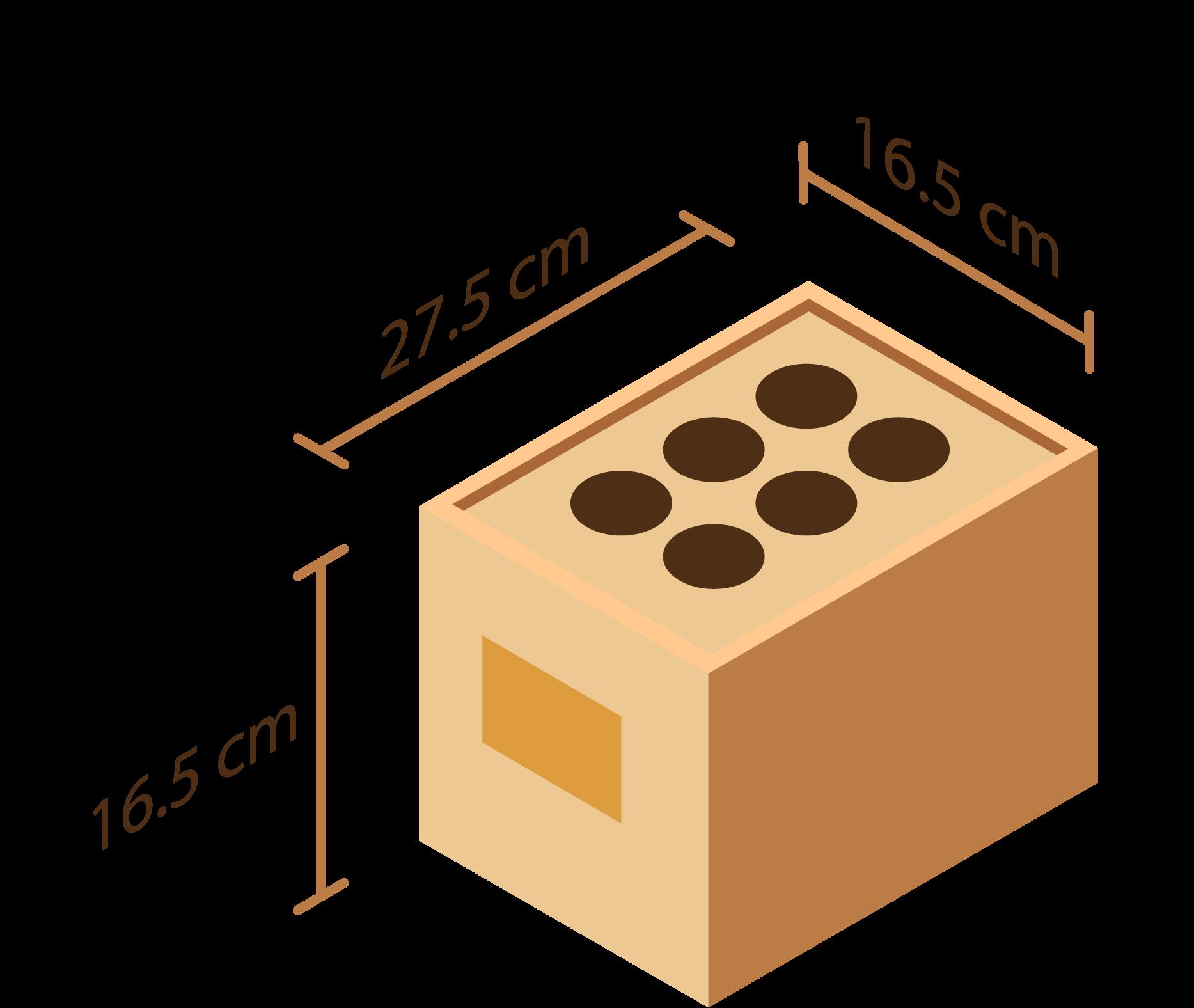 Dimensions de nos modèles 6 embases