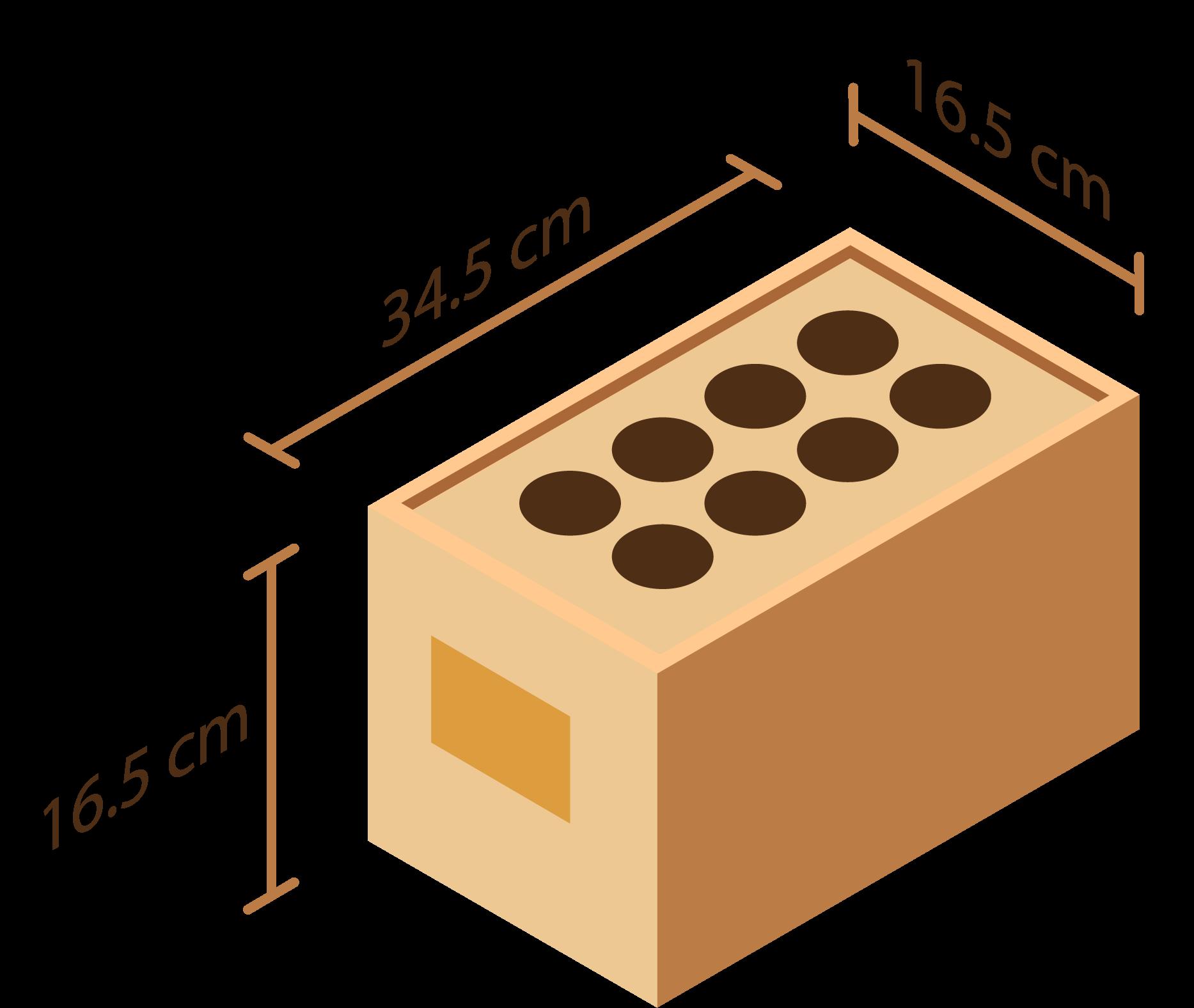 Dimensions de nos modèles 8 embases